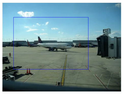 Figure 3: Detection of the arriving plane