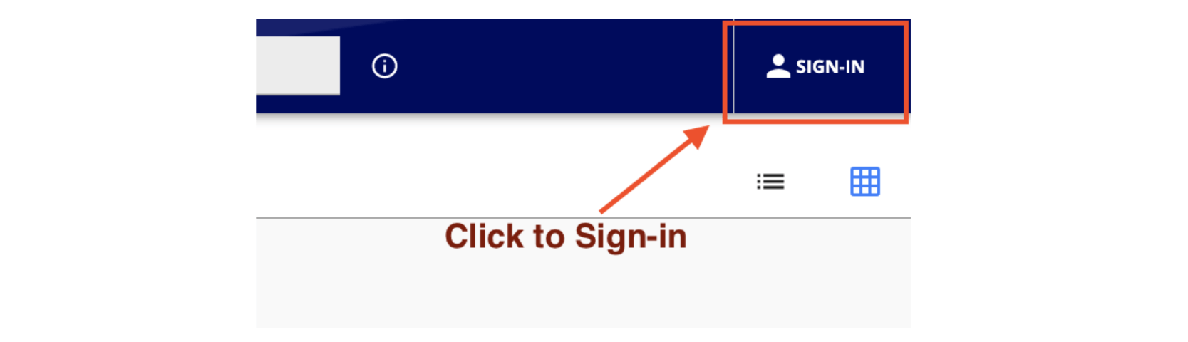 "Click ""SIGN-IN"""